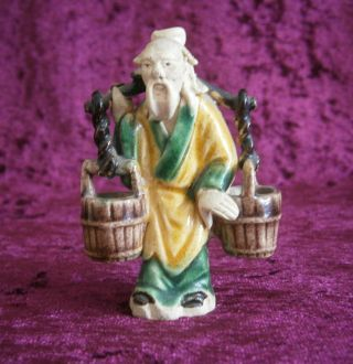 Good Antique Chinese Famille Verte Figure Of An Elder - photo