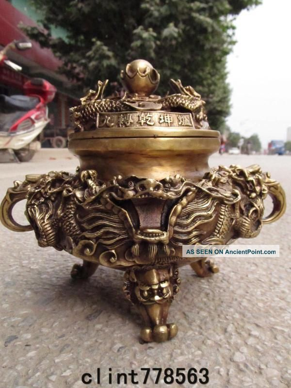 China Classic Brass Dragon Incense Burner220 Reproductions photo