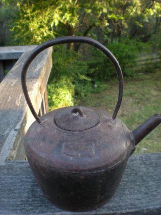 Antique Japanese Tetsubin Cast Iron Tea Pot Signed Last Chance photo