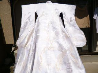 - Long,  Trailing Wedding Uchikake,  Rare,  Bran - New photo