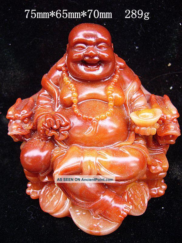 Chinese Shoushan Stone,  Statue,  Maitreya Buddha photo