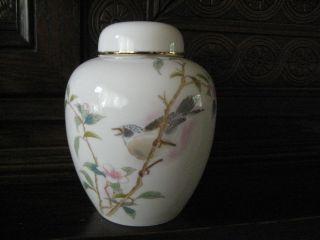 Fine Antique Vintage Yamaji Japanese Mockingbird Porcelain Vase photo