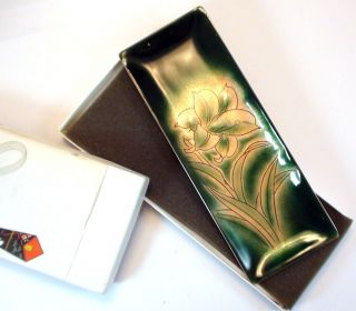 Japanses Ando Cloisonne Dish/ Tray /plate 3 3/8x 9 Still In Gift Box photo