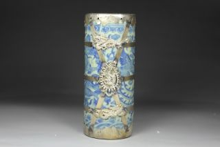 Chinese Handwork Porcelain Dragon Old Brush Pot photo