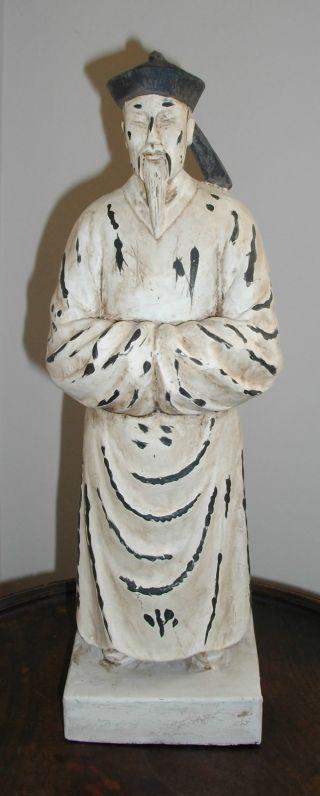 A Painted Oriental Figure Of A Mandarin 30 Cms photo