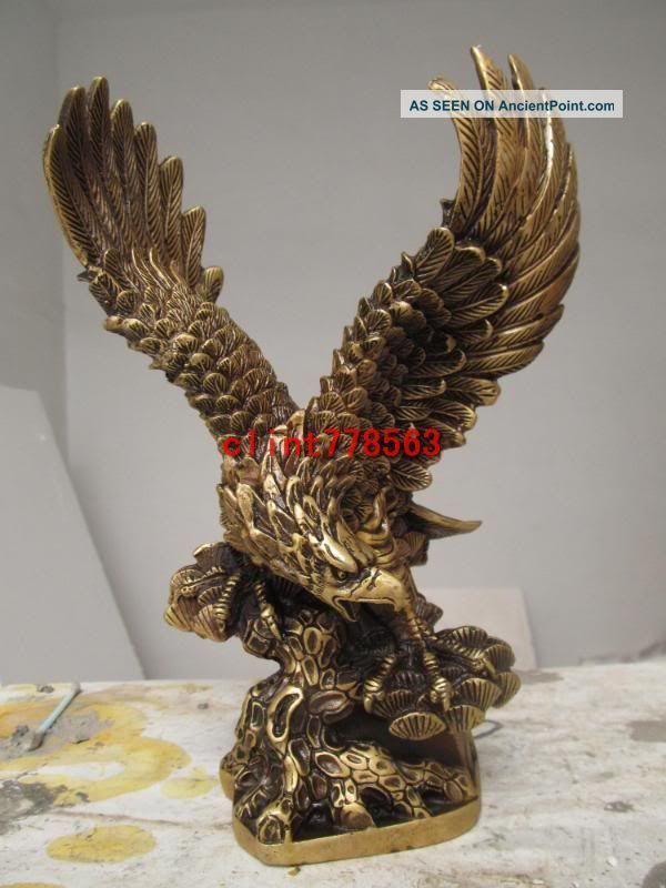 Classic Favorites Brass Spread The Wings Eagle Hawk Bird 386 Reproductions photo