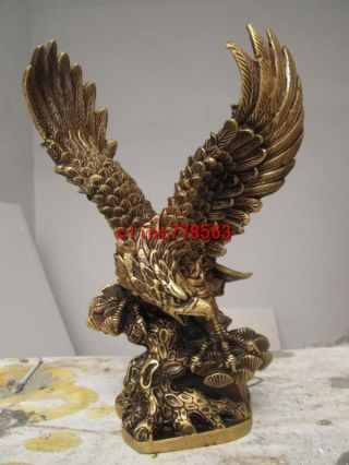 Classic Favorites Brass Spread The Wings Eagle Hawk Bird 386 photo