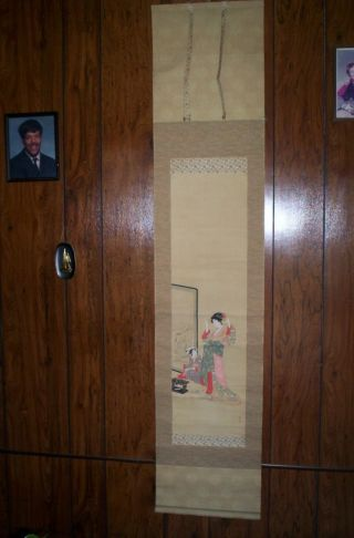 Antique Japanase Scroll Painting photo