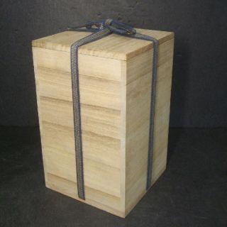 F225: Japanese Wooden Storage Box For Vase,  Statue Etc Popular Kiri. photo