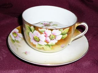 1920 ' S Nippon - Azalea - Mustache Tea/coffee Cup - Hand Painted Fine China - Rare - See photo