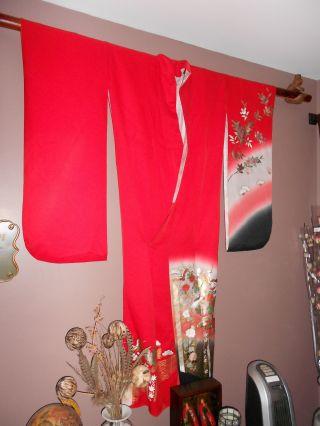 Red Kimono Antique photo