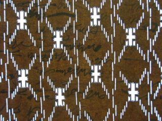 Is334 Japanese Ise Katagami Kimono Stencil Pattern Print Lines Cross Rectangle photo