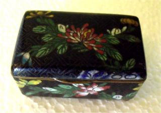 Delightfully Little Cloisonne Box Vintage Early 1900 ' S Late 1800 ' S Mejii Period photo