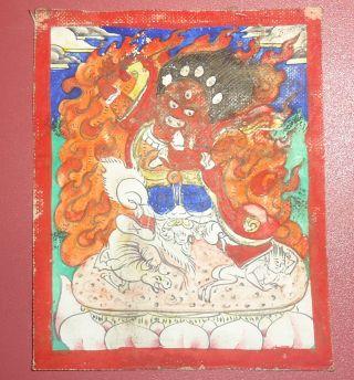 Mongolian Antique Buddhist Old Thangka 18 - 19 C (rare) photo