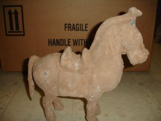 Chinese Jin Dynasty [ 265 - 420 ] Clay Horse Figure photo