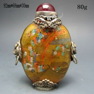 Chinese Inside Hand Painted Glass Snuff Bottle Nr/pc2047 photo