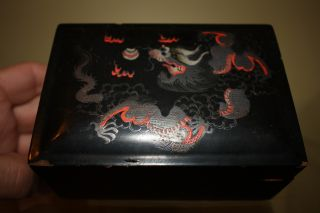 Chinese Dragon Decorated Vintage Box photo