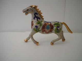 Vintage Japanese Cloisonne Horse photo