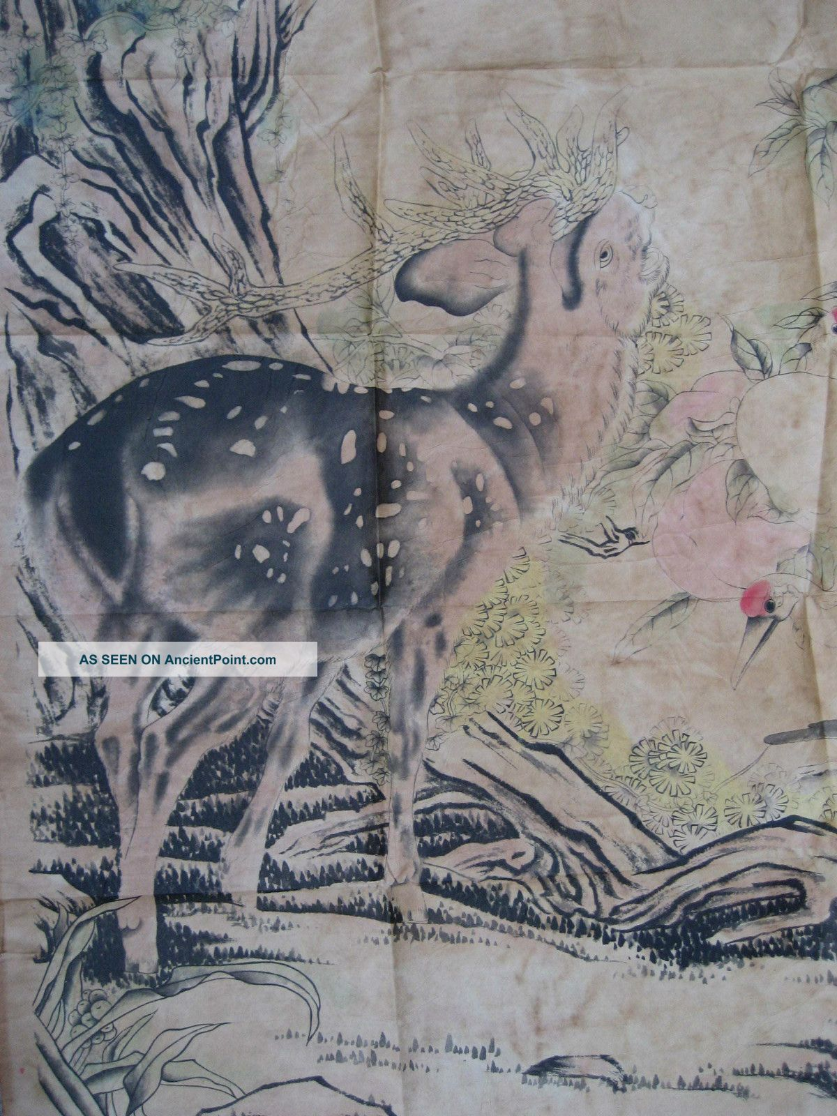 Chinese Deer Painting Chinese Painting Deer