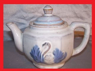 Chinese,  Japanese,  East Asian Cream Glazed Pottery Teapot, photo