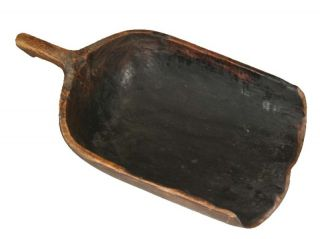 Chinese Antique Big Wood Ladle/scoop,  One Piece Of Wood photo