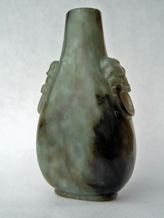 Astounding Antique Chinese Snuff Bottle,  Spinach Jade photo