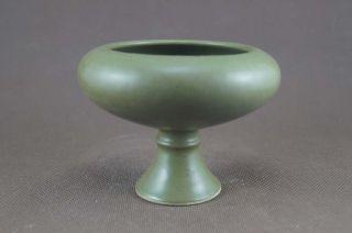 Unique Chinese Monochrome Green Glaze Porcelain Sstem Cup photo