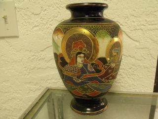Japanese Satsuma Vase 1910 - 1915 photo