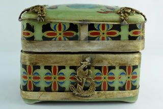 - China Old Decorated Handwork Porcelain Dragon Rouge Box photo