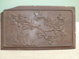 18thc Intricately Carved Japanese Wood Panel photo