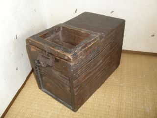 Japanese Fine Art Edo Zenibako Money Box With The Key photo