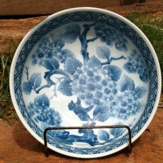 6 Inch Blue & White Bowl Arita? Unmarked photo