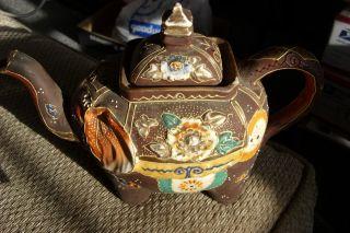 Early Hand Painted Elephant Tea Pot Hand Painted Japan - Gorgeous Unique photo