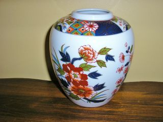 Old Imari Japan Vase Color & Design 4 3/4