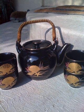 Vintage Otagiri Porcelain Tea Set - 24k Accents - Japan - photo