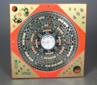 Chinese Old Wood Handwork Hong Kong Compass photo