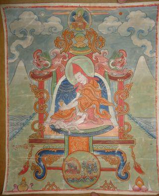 Mongolian Antique Buddhist Old Thangka 18 - 19 C (rare & Large) photo