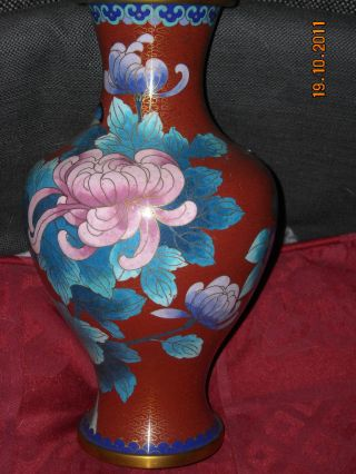 Large Cloisonne Vase Perfect 1920