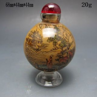 Chinese Glass Hand - Carved Snuff Bottles Nr/xy2038 photo