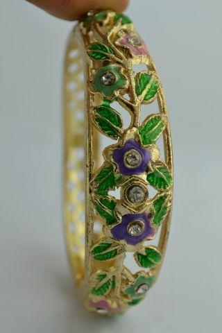 Asian Old Collectibles Decorated Wonderful Handwork Cloisonne Flower Bracelet photo