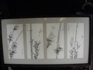 Chinese Ink Drawing On Paper (signed By Artist Shao Ying Tsai) photo