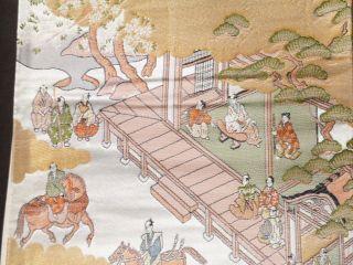 Vintage,  Kimono Fukuro Obi,  Samurais Fine photo