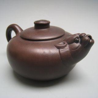 19th Century Chinese Yixing Teapot Strange Beast Charm Nr photo