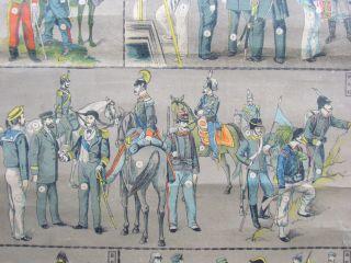 Nl883 Pre Wwi Print International Military Soldiers  Japanese Kakejiku Hanging photo