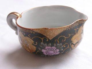Japanese Kutani Water Bowl With Heian Figures 1920s Taisho Handpainted Nr 1714 photo