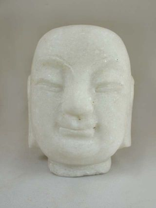 Chinese Marble Stone Carved Buddha Head Statue photo