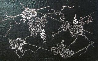 Antique 19c Japanese Ise Katagami Kimono Stencil Art Edo - Meiji Period 型紙 1648 photo