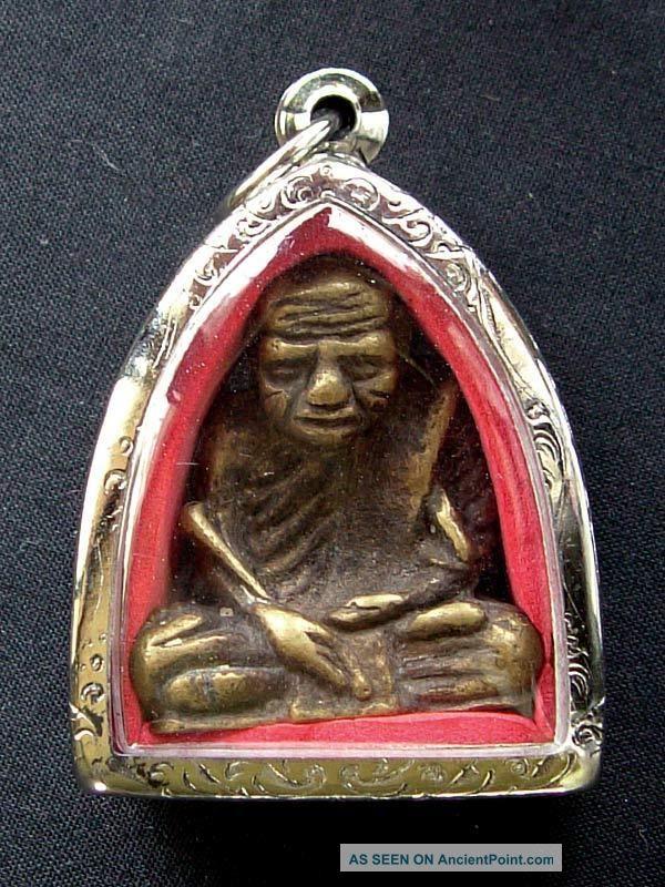 Thai Amulet Looplor Tok Raja Luang Phor Kron Wat Ban Sek (wat Uttamaram). Amulets photo