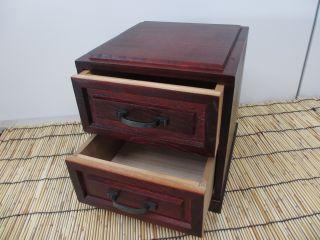 Japanese Vintage Tansu Drawers,  Small,  Cabinet,  Box,  Hako,  Rare, ,  Good,  Japan - B photo