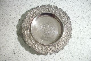 An Ornate Silver Indian Asian Persian Islamic Middle Eastern Antique Plate photo